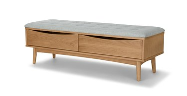 A bench with storage