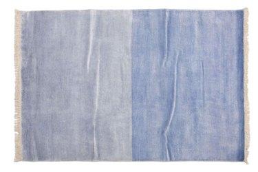 aelfie blue bamboo silk rug