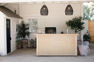 The outdoor bar