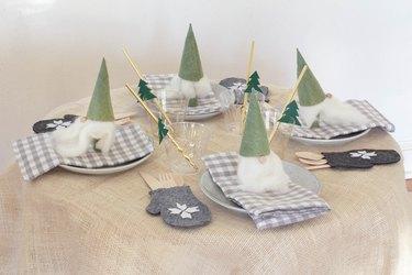 DIY kids Christmas table setting