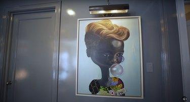 Ndidi Emefiele artwork in Misty Copeland's hallway