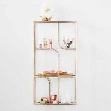 glass organizing shelves