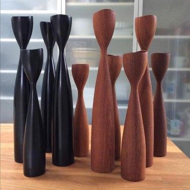 Midcentury Decorative Object - BoSwedishStyle Midcentury Teak Candlestick