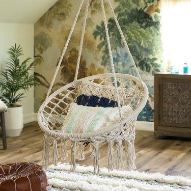 walmart macrame swing chair