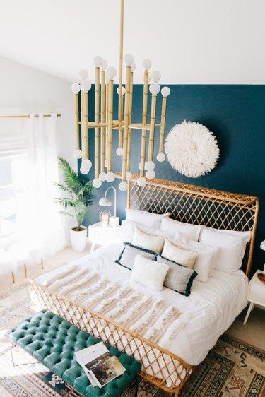Midcentury chandelier modern bedroom lighting idea