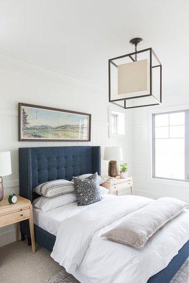 Lantern pendant light modern bedroom lighting idea
