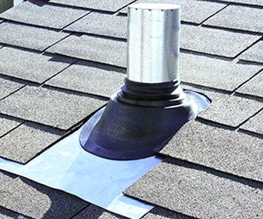 Roof pipe flashing.