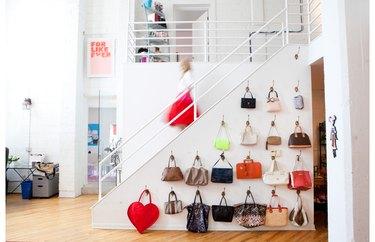 hang handbags on the wall like art