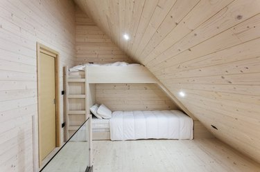 modern farmhouse with bunk beds