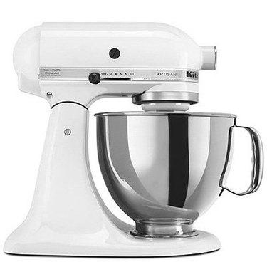 White Kitchen Appliances: KitchenAid Artisan Stand Mixer