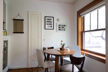Small kitchen dining table near window