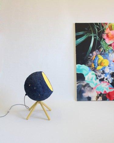 navy knit lamp
