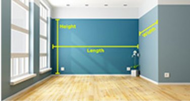Measuring wall for painting.