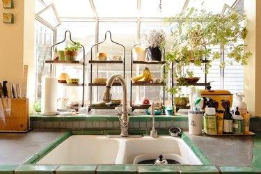 kitchen space in craftsman home