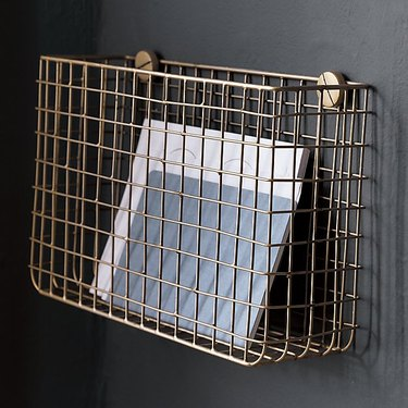 CB2 Grid Brass Magazine Rack, $29.95