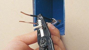 Strip wire insulation.