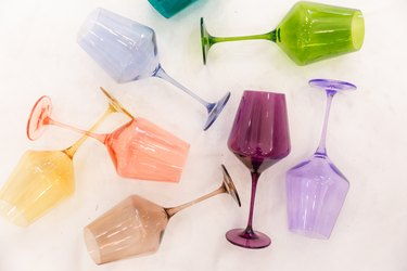 wine glasses by Estelle Colored Glass
