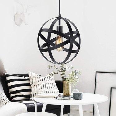 metal industrial globe lighting