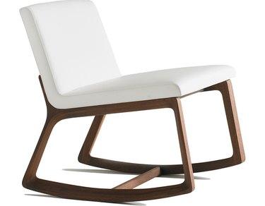 Bernhardt Design contemporary rocking chair with wood frame