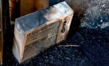Burned out space heater.