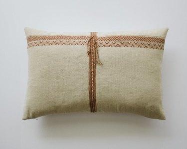 Habitation Boheme Natural Woven Lumbar Pillow Cover