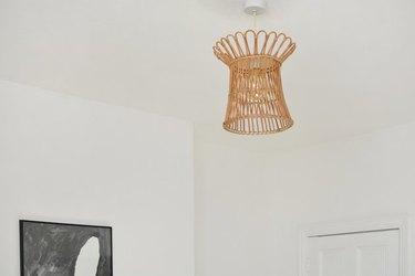 rattan light fixture