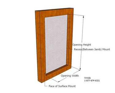 Measuring a window for bars.