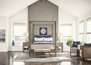 White-and-gray bedroom
