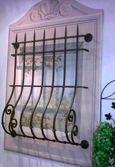 Elegant window security bars.