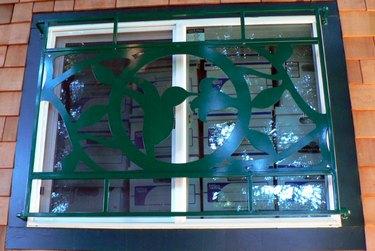 Decorative burglar bars.