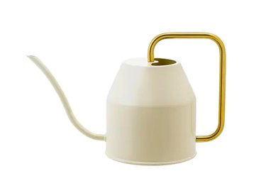 watering can with gold handle