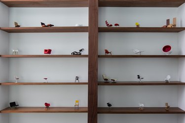 Shelving with items