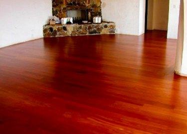 Santos mahogany flooring.