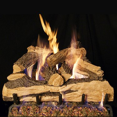 Gas log set