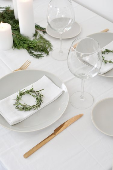 Miniature Rosemary Wreaths