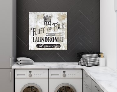 Farmhouse Sign, Fluff and Fold Laundromat Sign for Laundry Room