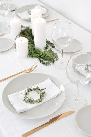 Miniature Wreath Table Settings