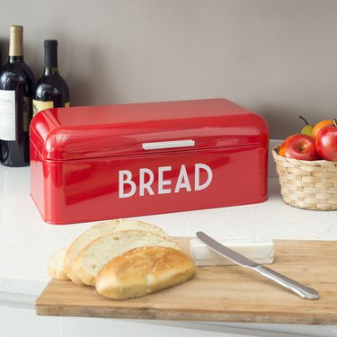 Metal Bread Box With Lid, $25.49