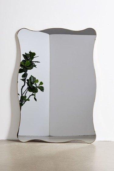 wavy floor mirror