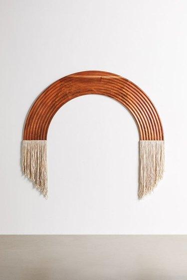 arc headboard with fringe
