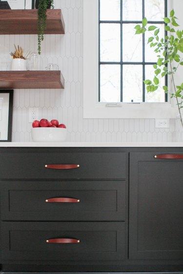leather kitchen hardware pulls