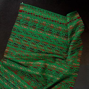 green woven piece