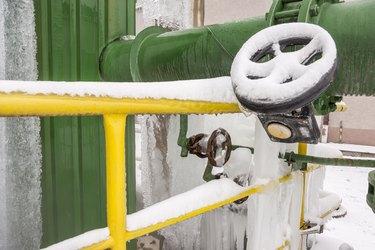 Frozen valve