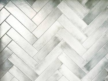 Whitewashed Herringbone Background