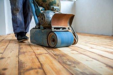 home renovation, parquet sanding, polishing