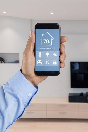 Smart home system on mobile phone.