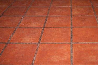 Abstract brown brick tiles Floor background