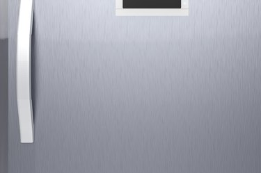 fridge door with handle
