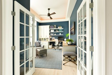 Modern Contemporary Interior Design of Home Office Room