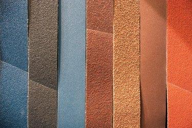 Multicolored abrasive tape